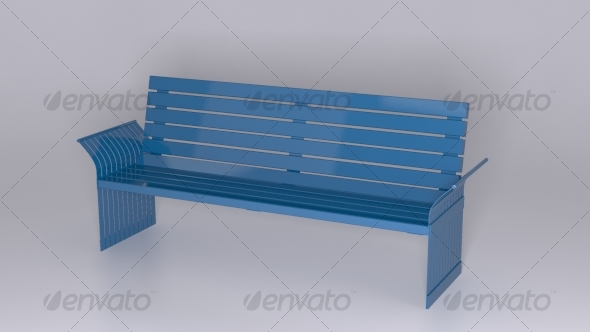 3DOcean 6 Back Bench 127798
