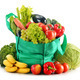 Green shopping bag with variety of fresh organic vegetables isol - PhotoDune Item for Sale