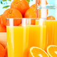 Composition with glasses of orange juice and fruits - PhotoDune Item for Sale