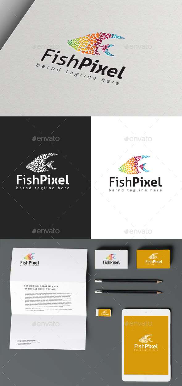 GraphicRiver Fish Pixel 10115662