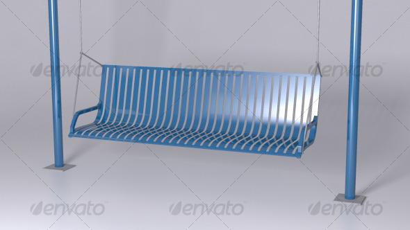 Steel Hanging Swing - 3DOcean Item for Sale