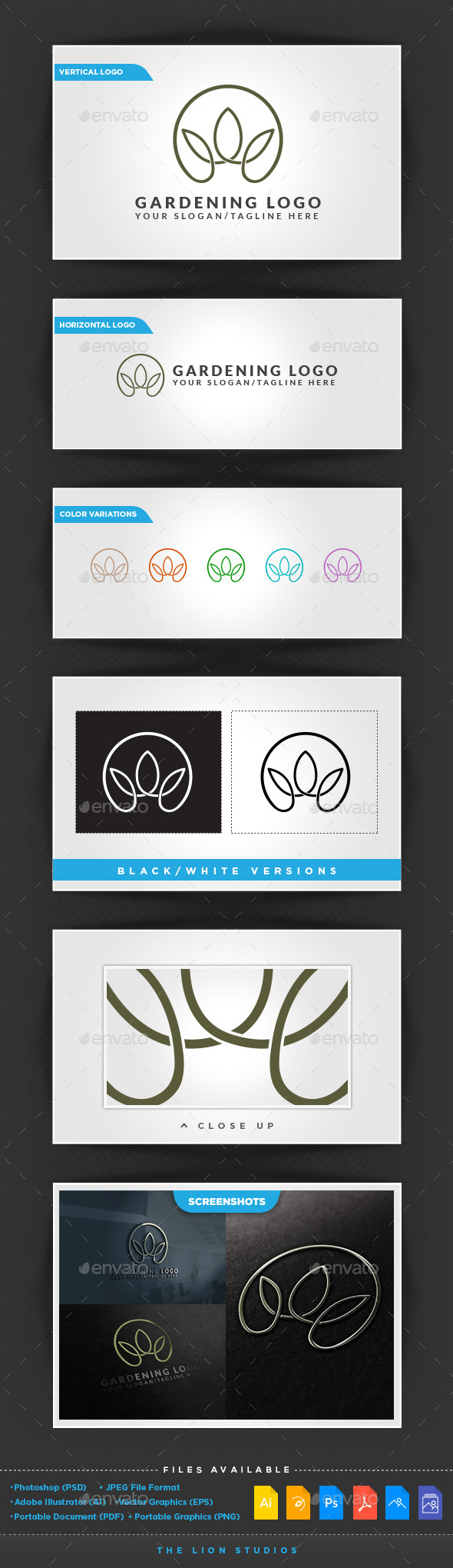 GraphicRiver Gardening Logo 10116219