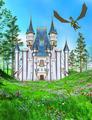 fairy tale castle illustration