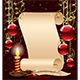 Christmas Background with Candle - GraphicRiver Item for Sale