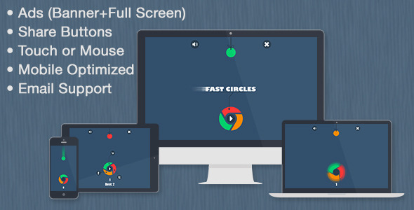 CodeCanyon Fast Circles Game & Share & Ads 10116657