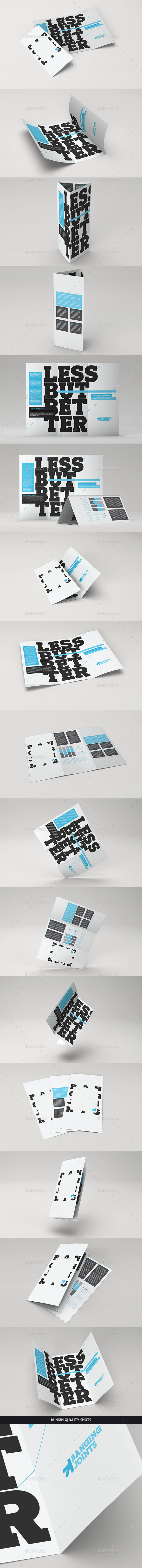 GraphicRiver Trifold Brochure Mock-Up Pack 10116678