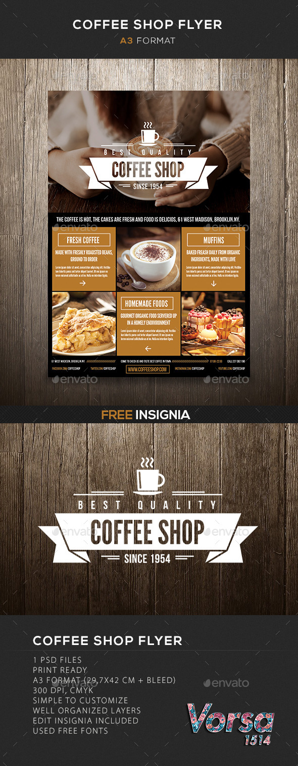 GraphicRiver Coffee Shop flyer 10116679