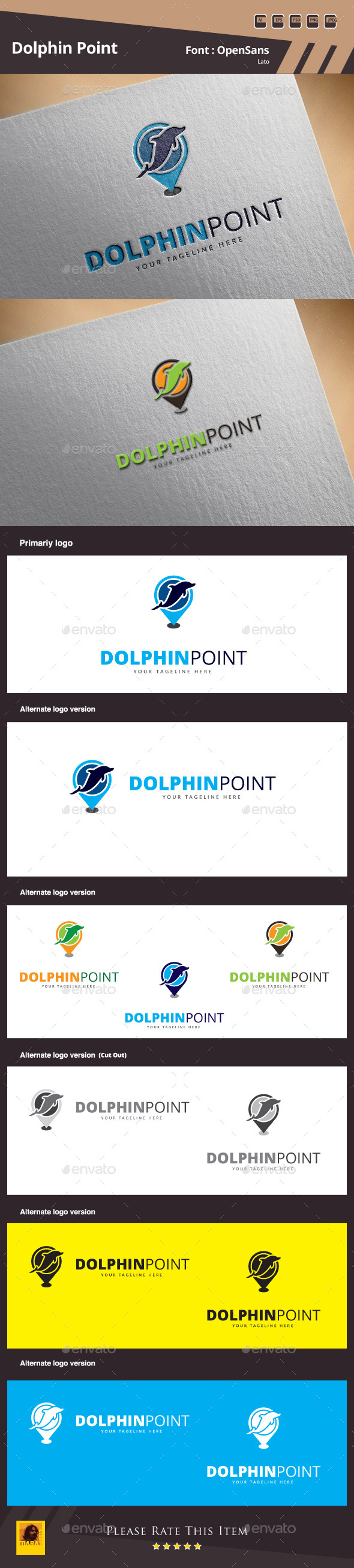 GraphicRiver Dolphin Point Logo Template 10116743