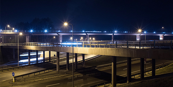 VideoHive Freeway Night Traffic 10116887