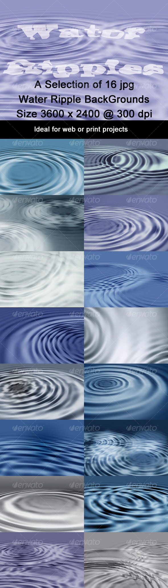 GraphicRiver Water Ripples Background Pack 127818