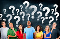 Diverse People Thinking and Question Marks - PhotoDune Item for Sale