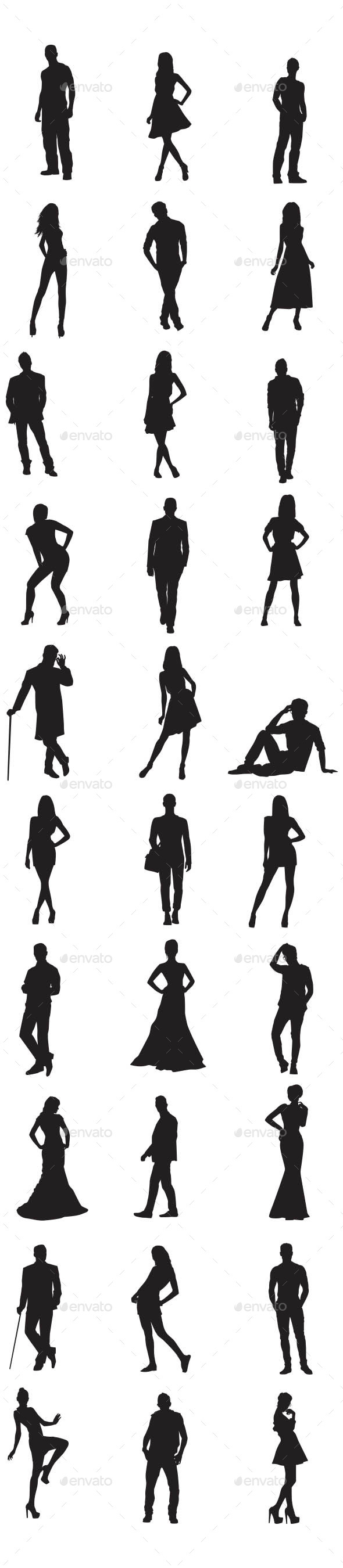 GraphicRiver People Silhouettes 10117874