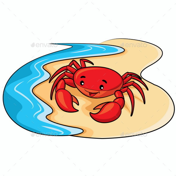 GraphicRiver Crab Cartoon 10117876