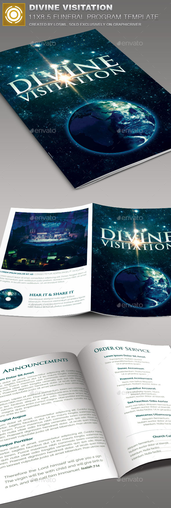 GraphicRiver Divine Visitation Church Bulletin Template 10117899