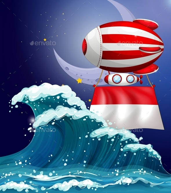 GraphicRiver Floating Balloon with the Flag of Monaco 10117903