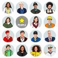 Portraits of DIverse People with Different Jobs