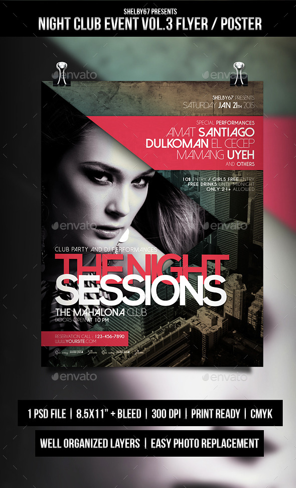 GraphicRiver Night Club Event Flyer Poster Vol.3 10117951