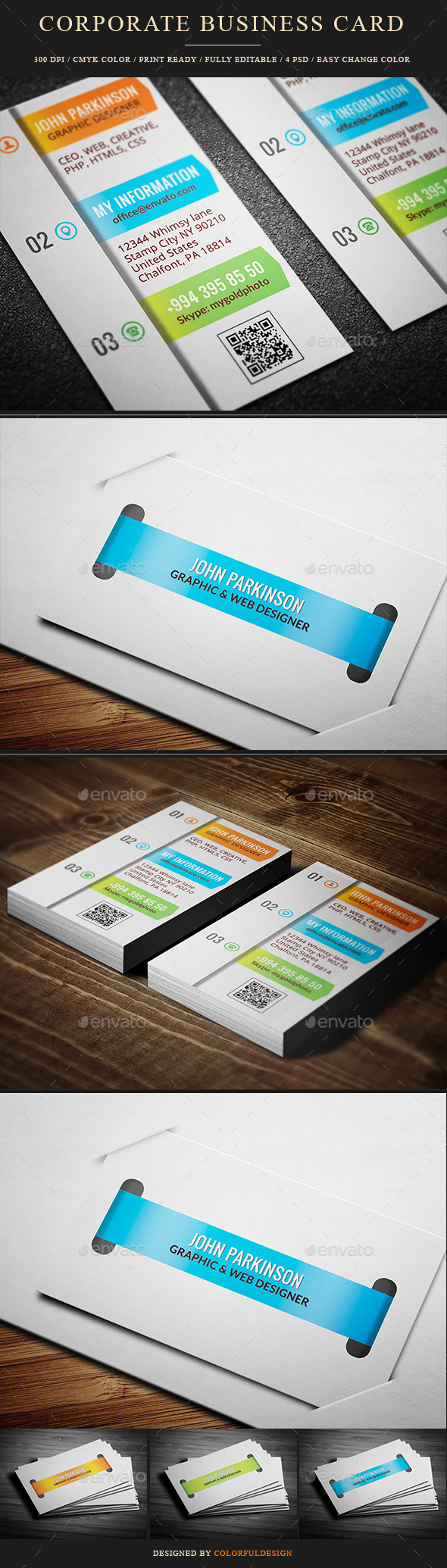 GraphicRiver Corporate Business Card 10117950