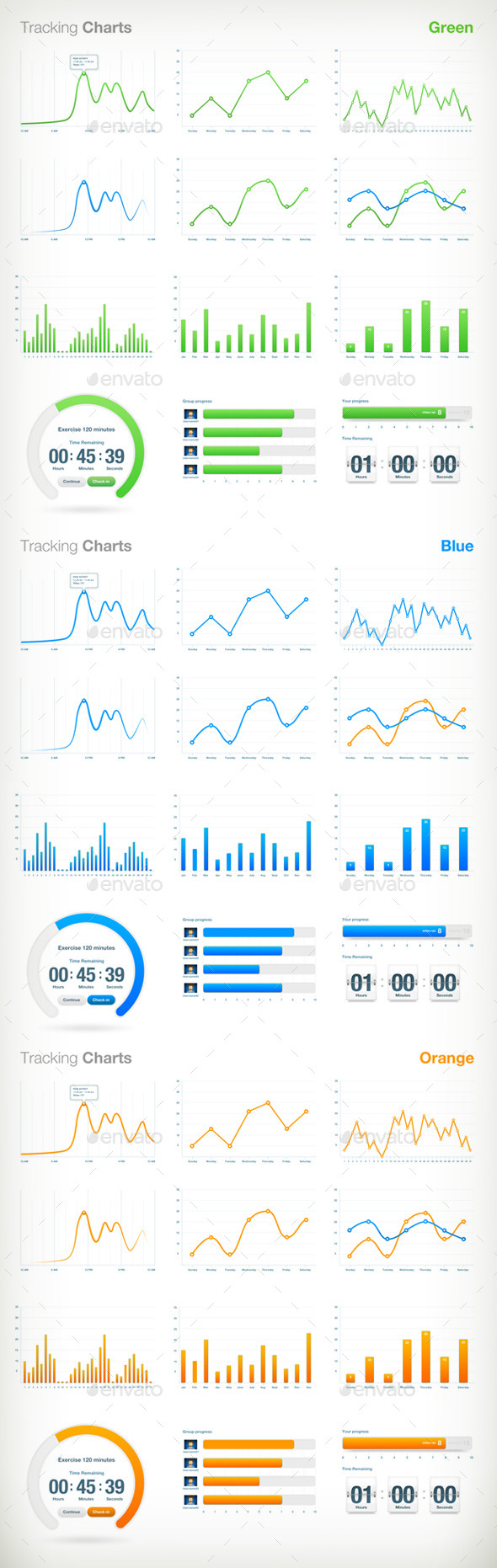 GraphicRiver Tracking Charts 10118037