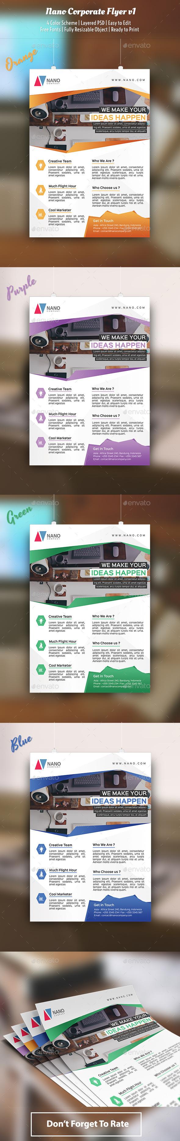 GraphicRiver Nano Flyer Template v1 10118039