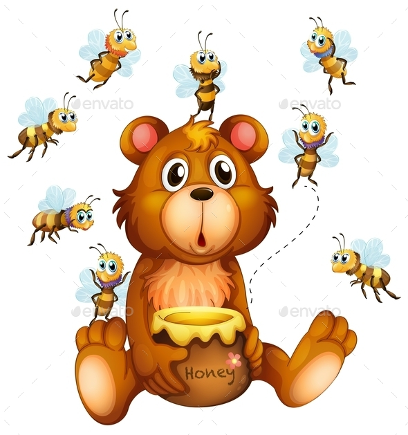 GraphicRiver Bear and Bees 10118058