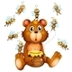 Bear and Bees - GraphicRiver Item for Sale