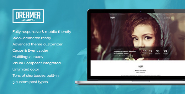 Dreamer Multipurpose Charity WordPress Theme