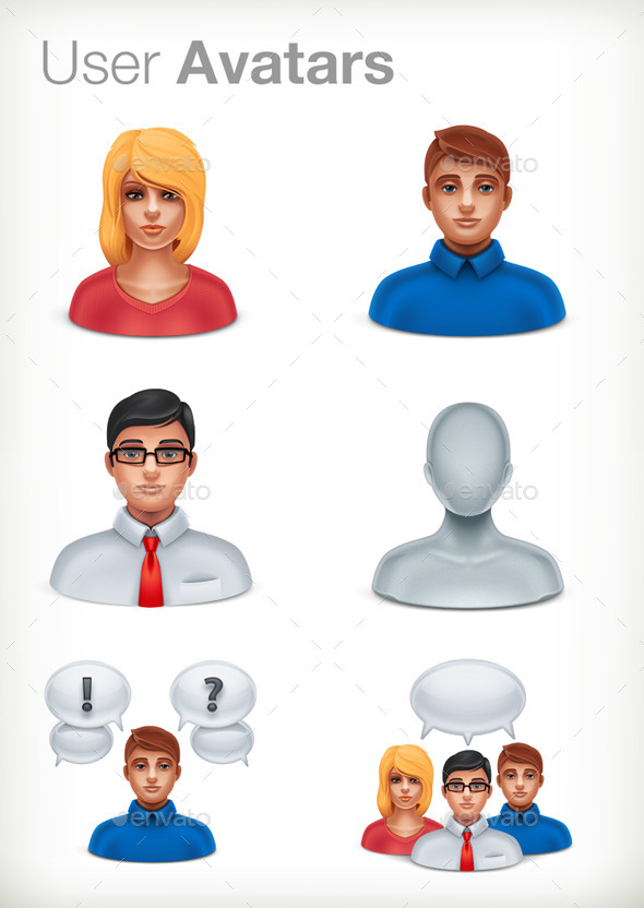 GraphicRiver Basic User Avatars 10118195