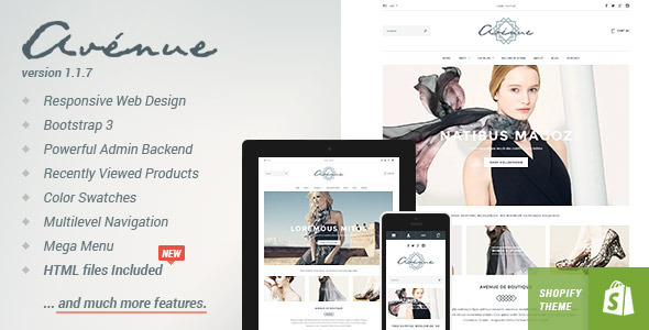 Avenue - Responsive Shopify Theme - Fashion Shopify