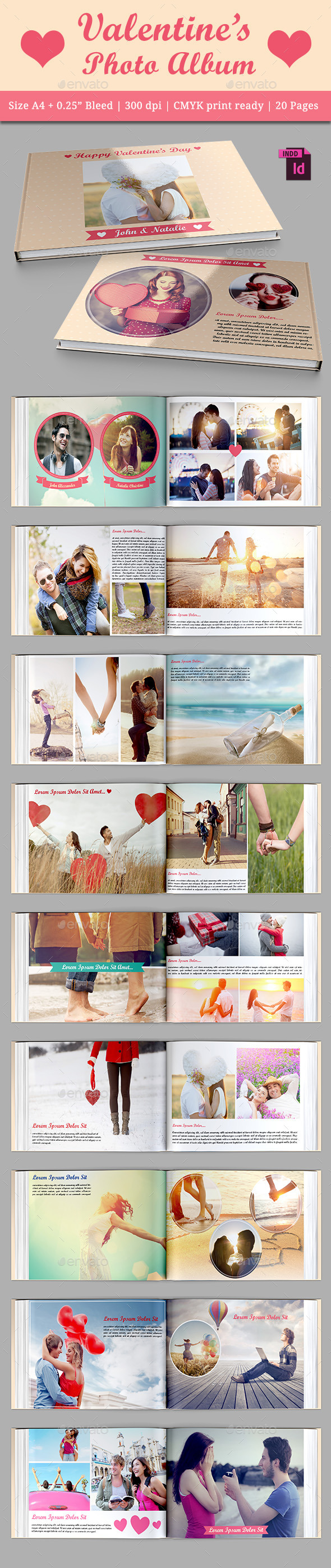 GraphicRiver Valentine s Photo Album 10079552