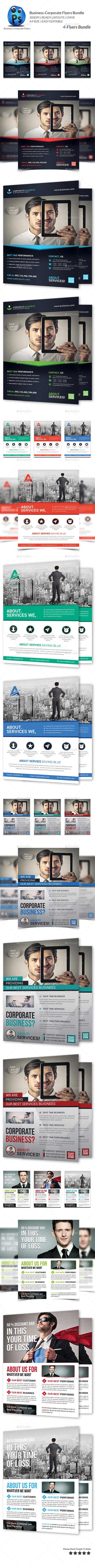 GraphicRiver Corporate Business 4 Flyer Bundle 10118272