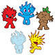 Elemental Monsters - GraphicRiver Item for Sale