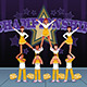 Cheerleaders in a Cheerleading Competition - GraphicRiver Item for Sale