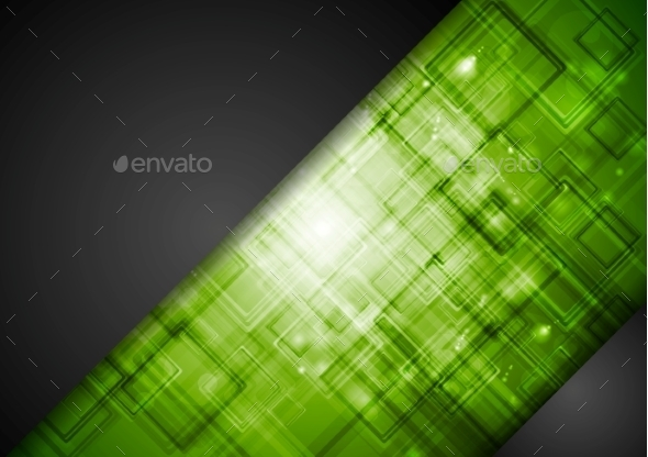 GraphicRiver Abstract Dark Green Tech Background 10118548