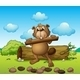 beaver with a Piece of Wood - GraphicRiver Item for Sale