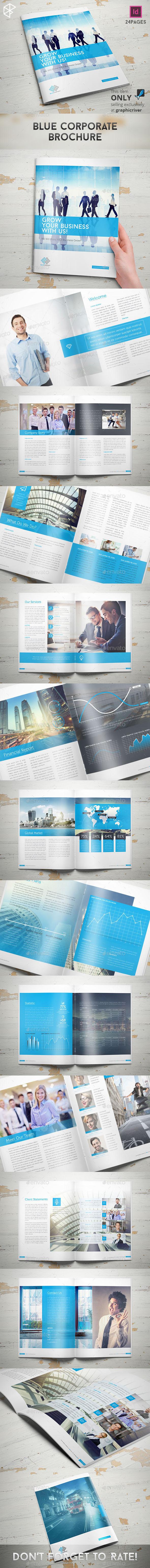 GraphicRiver Blue Corporate Brochure 10118618