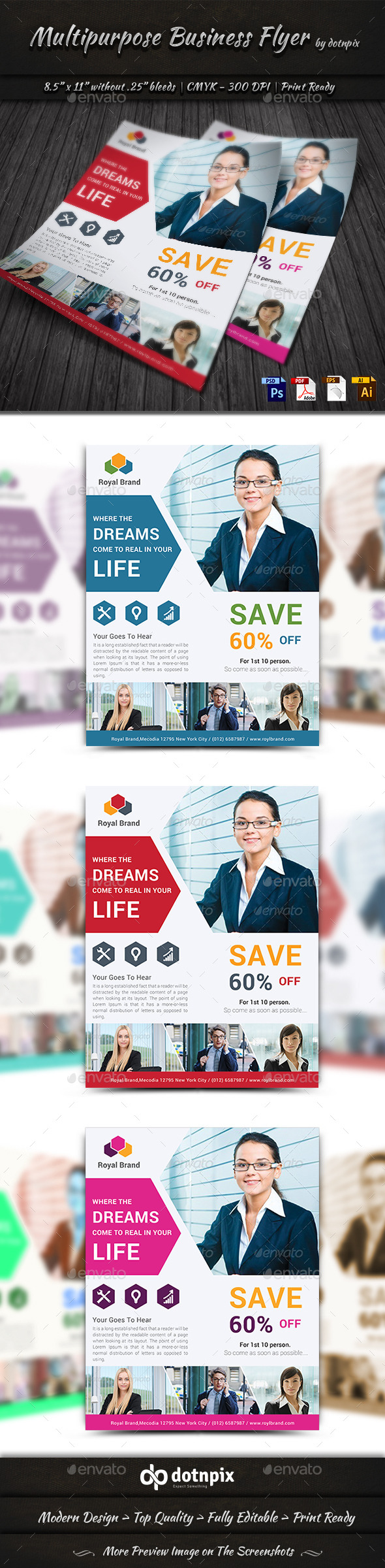 GraphicRiver Multipurpose Business Flyer 9916353