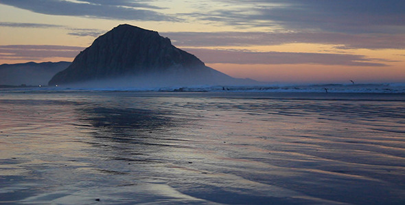 VideoHive Soft Sunset at Morro Rock 10118996