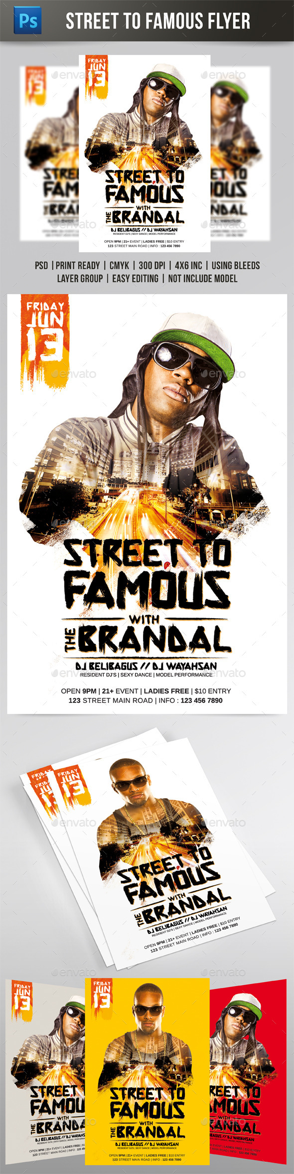 GraphicRiver Street to Famous Flyer 10119019