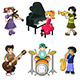 Different Kids Playing Musical Instruments - GraphicRiver Item for Sale