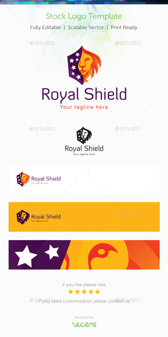 GraphicRiver Royal Shield Stock Logo Template 10119069
