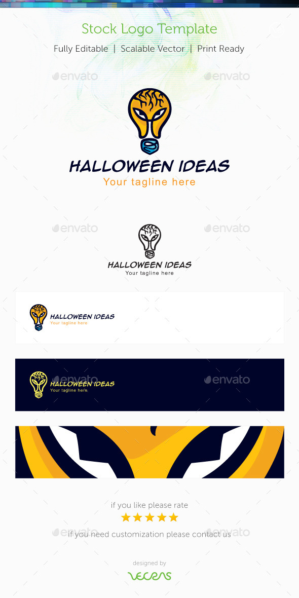 GraphicRiver Halloween Ideas Stock Logo Template 10119072