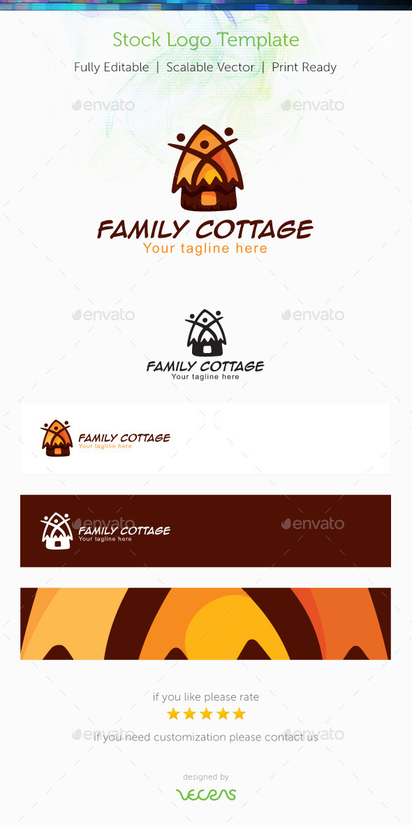 GraphicRiver Family Cottage Stock Logo Template 10119073