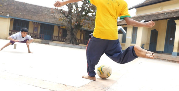 VideoHive Kids Playing Soccer 10119075
