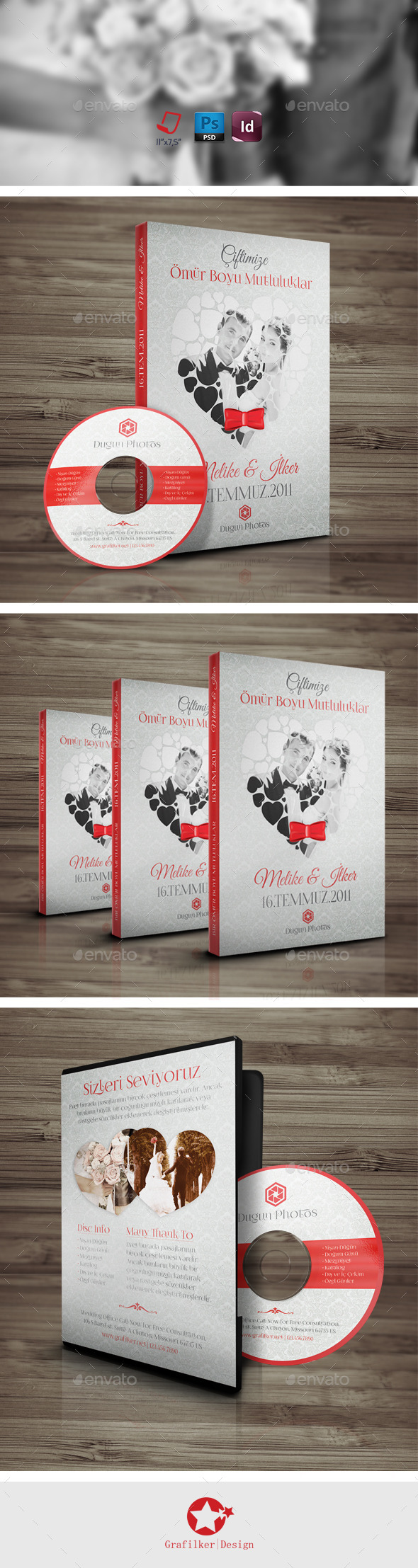 Wedding Dvd-Cd Cover Templates