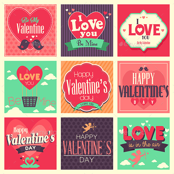 GraphicRiver Valentines Day Cards 10119332