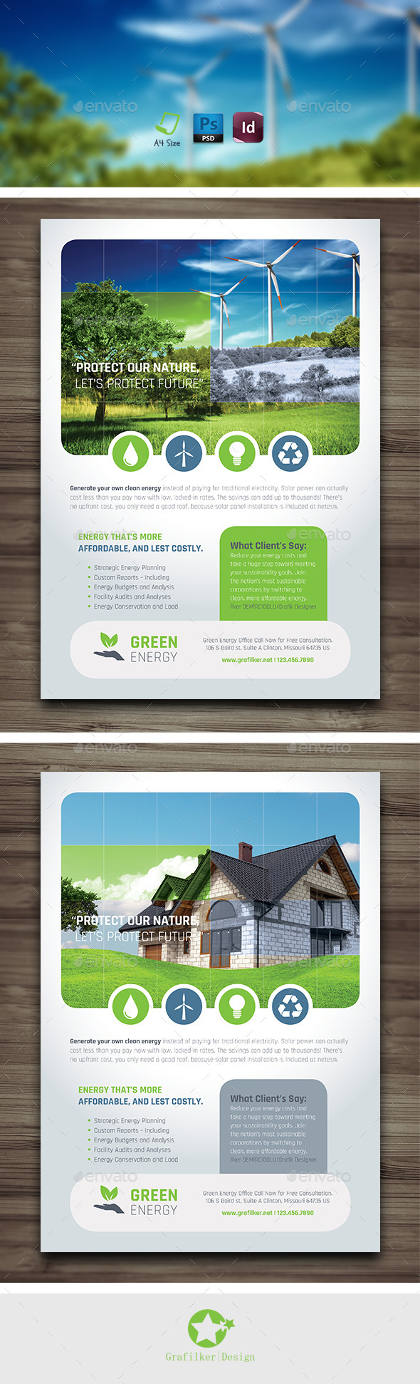 GraphicRiver Green Energy Flyer Templates 10119342