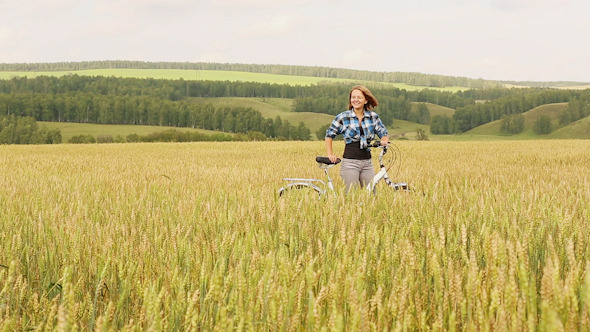 VideoHive Girl With Bicycle 10 10119479