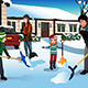 Family Shoveling Snow - GraphicRiver Item for Sale