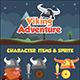 Viking Adventure Sidescroller Game UI